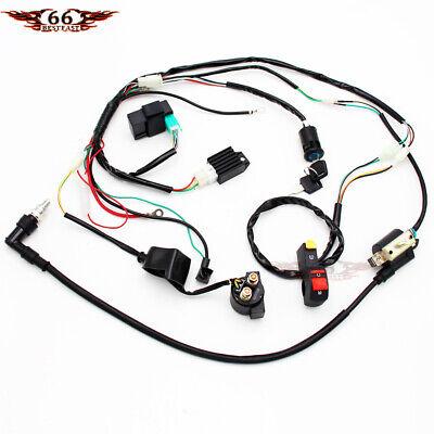 Full Wiring Harness Loom 50/70/90/110/125cc Dirt/Pit BIke ...