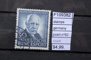 STAMPS-GERMANY-YVERT-N-62-USED-F109382