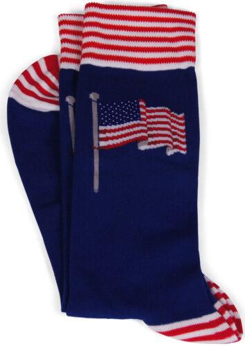 "Blau//Mehrfarbig 41-46 Hot Sox Herrensocke mit Motiv /""American Flag/"""