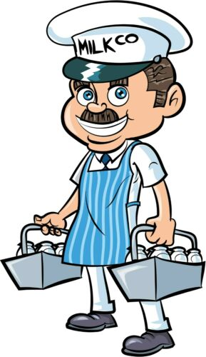 Milkman personalised card any occasion