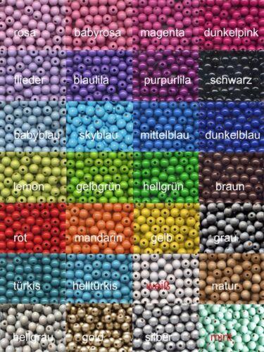 über 10/% SPAREN 10x30 Stück 12 mm Deutsche Holzperlen FARBWAHL 28 Farben