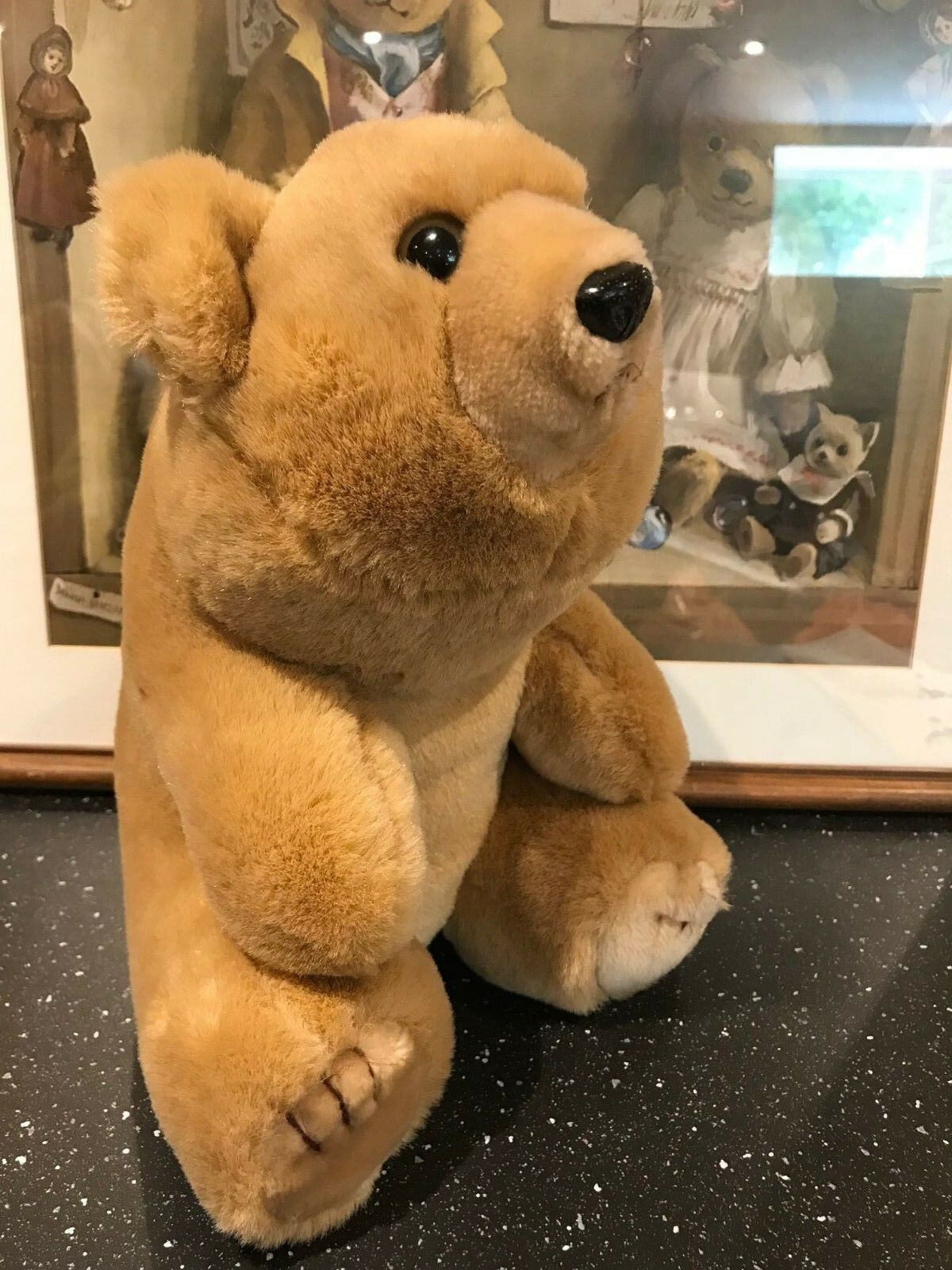 Vintage Braun Teddy Bear Stuffed Plush 11 inch