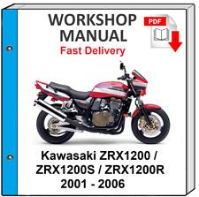 Kawasaki Zrx 1200 Service Manual For Sale Online Ebay