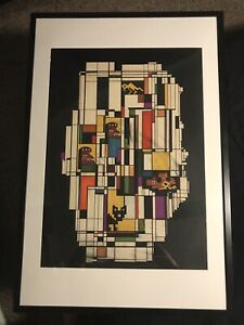 1961-DORIS-SAENZ-SIGNED-MID-CENTURY-ORIGINAL-CUBIST-PAINTING-LISTED-ARTIST-FRAME