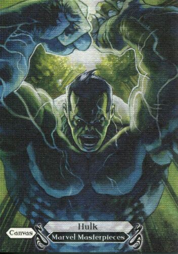 Marvel Masterpieces 2018 Canvas Base Card 95 Hulk