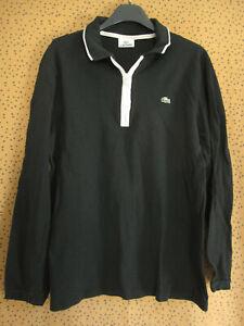 Polo Lacoste Homme Devanlay Manche Longue Coton Noir Jersey - 5 / M
