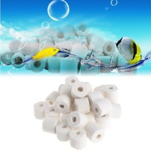 500g Ceramic Bio Porous Filter Media Biological Rings Aquarium Fish Tank Cleaning & Maintenance