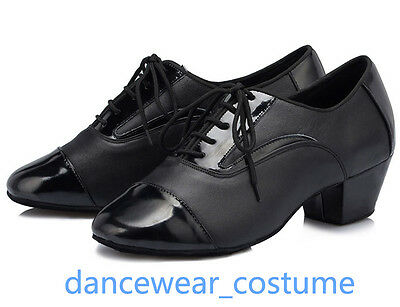 New Men/'s Leather Ballroom Latin Tango Modern Jazz Salsa Dance Heels Shoes 39-45