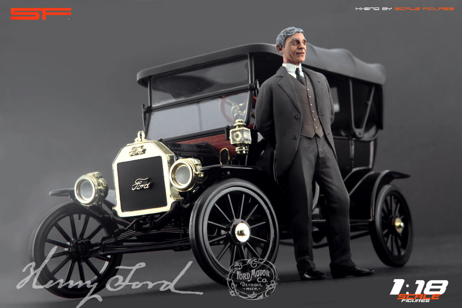 1:18 Henry Ford VERY RARE figurine NO CARS  for diecast collectors