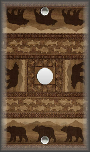Rustic Cabin Home Decor Black Bear Home Decor Metal Light Switch Plate Cover