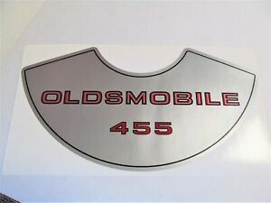Olds Oldsmobile 1968 455 4V Rocket Air Cleaner Decal