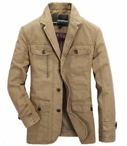 Men-039-s-army-button-Jacket-Cotton-Coat-Military-parkas-Jackets-Coat-trench-Outwear