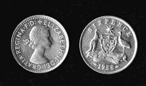 Wedding Card w// Queen Elizabeth Australia .500 Silver sixpence for Bride/'s shoe