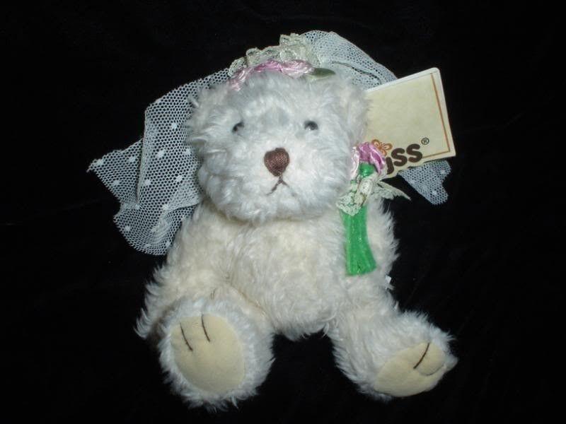 Russ Berrie Caress Soft Pet Bridal Bear in Wedding Gown