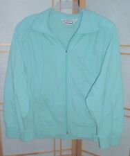 SZ L Cal Sport Light Blue Jacket Windbreaker Vintage Womens Ladies made in USA