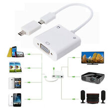 Micro USB MHL to VGA and 3.5mm Audio Adapter Converter Cable for Samsung HTC LG