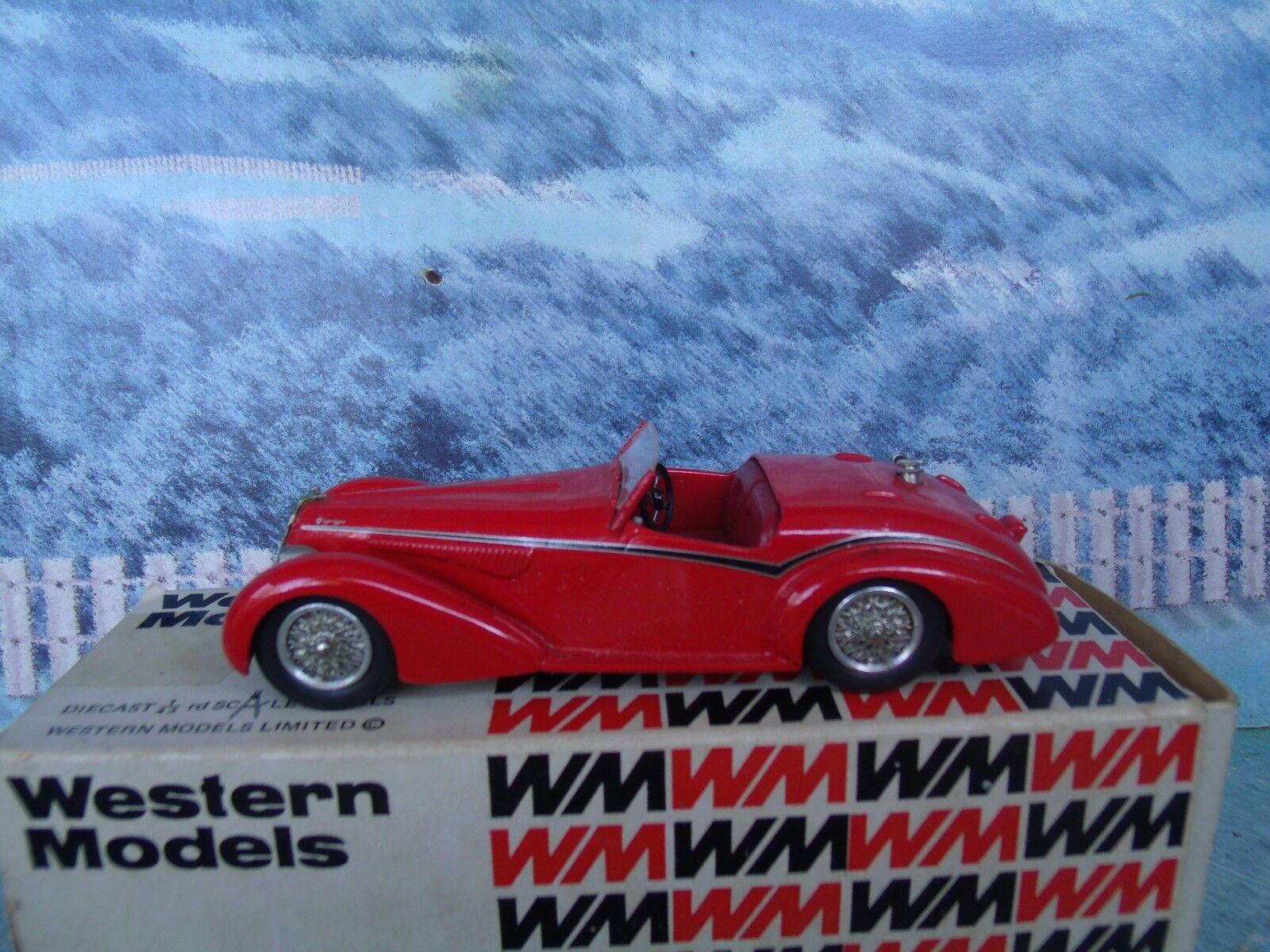 1 43 Western models  (England) Alfa Romeo 1938 8C 2900B spyder  bianca metal