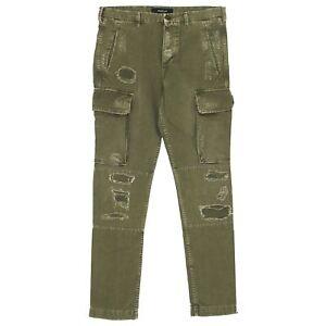 21798-REPLAY-Herren-Jeans-Hose-Cargo-M9508-Slim-Denim-green-olivgruen