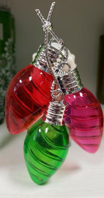 Bath and Body Works Christmas Lights Wallflowers Plug Diffuser Night Light 💙💚 | eBay