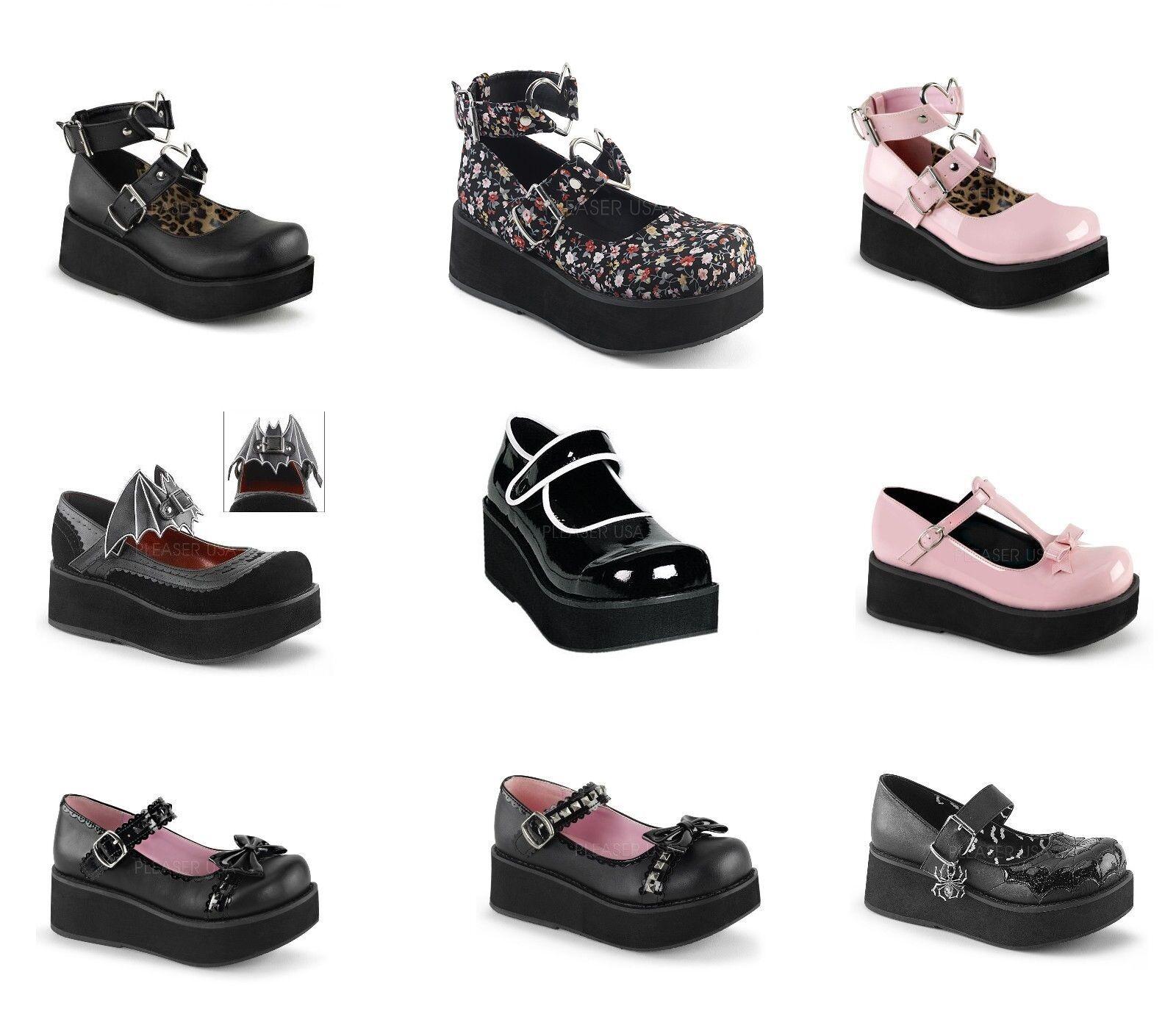 Demonia Women's SPRITE-01 02 03 04 05 09 Platform shoes