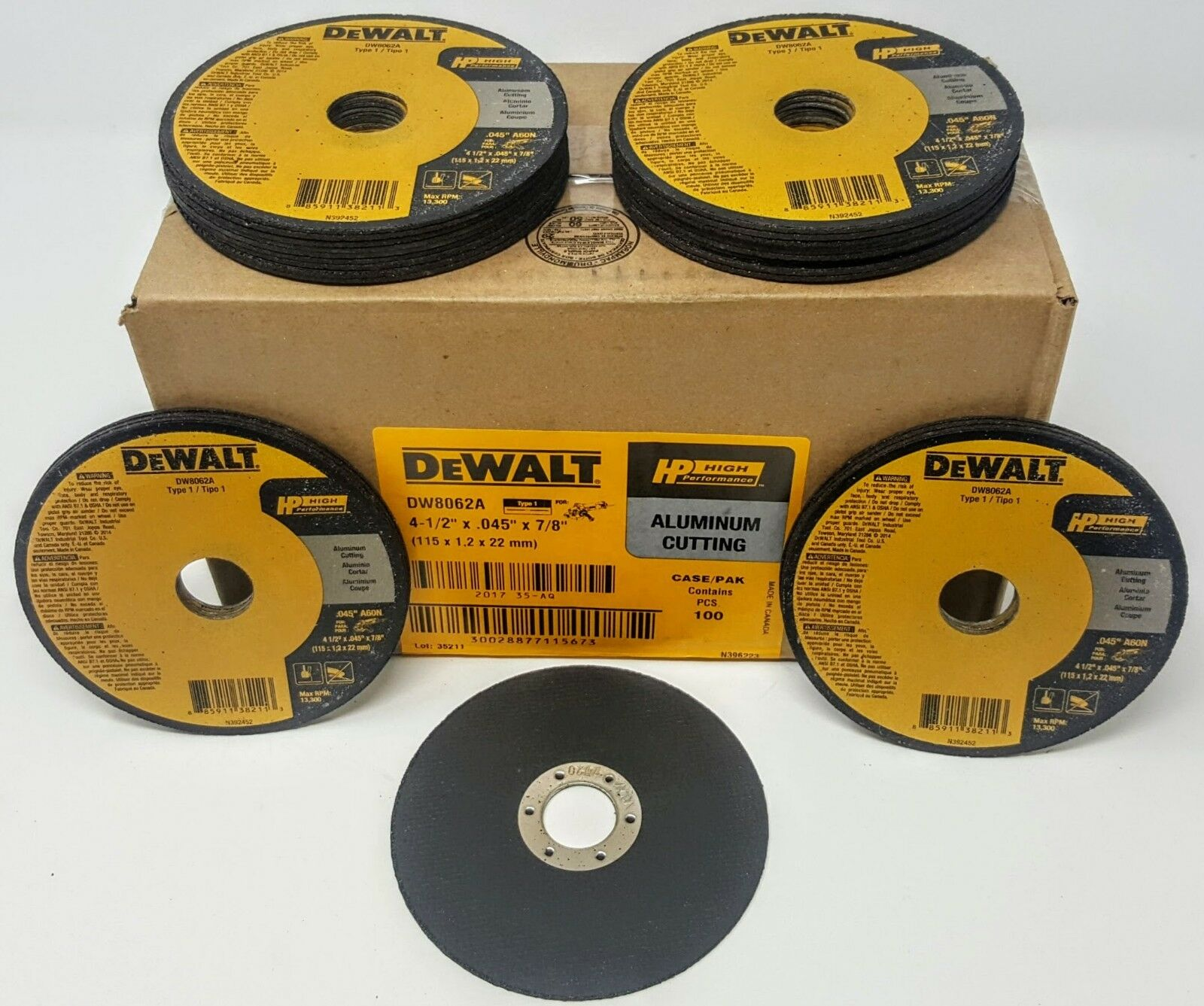 (Box of 100) Dewalt DW8062A 4-1/2