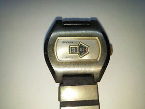 9e1254bff525 Details about RARE VINTAGE 17 JEWEL ENDURA JUMP HOUR DIGITAL WATCH FOR YOU  TO FIX