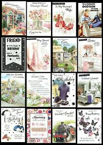 BIRTHDAY CARDS Friend or Relation ~ ONLY 99p Each Card ~ SOMETHING FOR EVERYONE