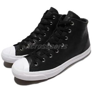 95fb05daee31 Converse Jack Purcell Jack Leather High Top Black White Men Shoe ...