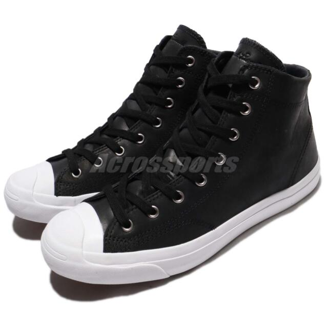 201bbab900d34d Converse Jack Purcell Jack Leather High Top Black White Men Shoe Sneaker  157707C