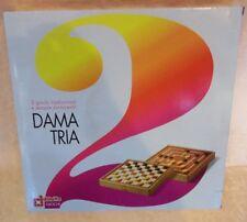 GIOCO IN SCATOLA 2 GIOCHI: DAMA E TRIA SCATOLA BIANCA  cod.9877