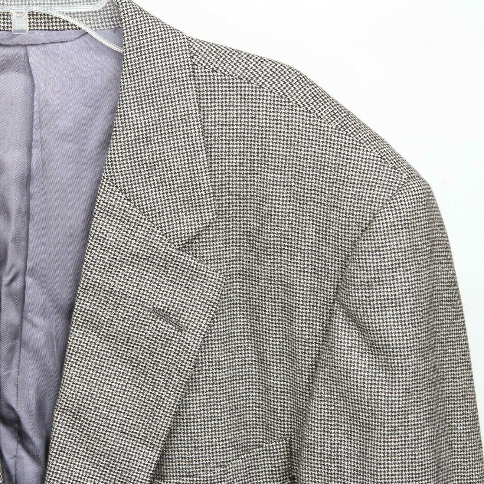 Hickey Freeman Paul Simon Gray White Black Wool H… - image 9