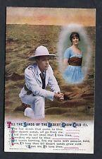 "C1915 Bamforth Song Card ""Til the Sands of the Desert Grow Cold"" (1)"