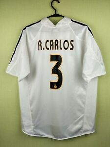 02ab437af Roberto Carlos real madrid jersey medium 2004 2005 Home shirt adidas ...