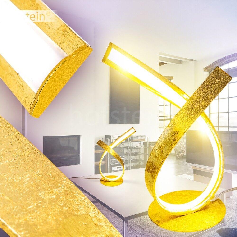 Elegante design LED Lampada da tavolo oro NOTTE LAMPADA scrittura residenziali sonno stanza ufficio