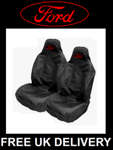 FORD RED LOGO Sports Car Seat Covers Protectors Recaro //Fits FORD FIESTA ST