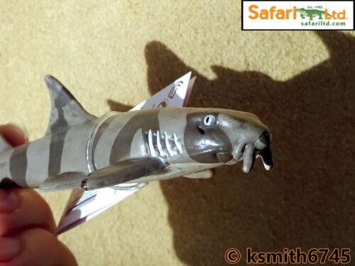 NUOVO * Safari BAMBOO Squalo giocattolo in plastica solida MARE PESCI Selvatici Animali Marini