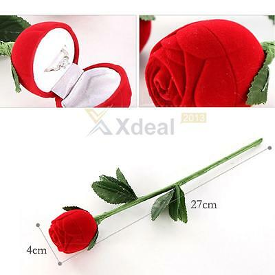 Rose Engagement Wedding Earring Ring Pendant Jewelry Display Box New Gift