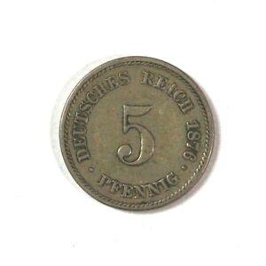 1876 Germany 5 Pfennigs
