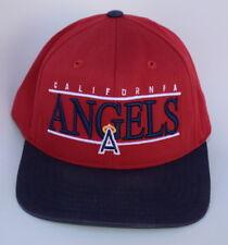 American Needle Raglan Wash Ladies California Angels Navy and Pink Baseball Hat