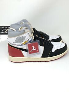 new product 0b2cc ff78c Details about Nike Air Jordan Union Los LA 1 One Black Toe Size 10.5 Retro  High OG BV1300 106