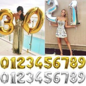 40 Goldsilber Geburtstag Hochzeit Dekoration Folie Nummer