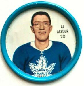 1962-63 Shirrif Hockey Coin #20 Al Arbour Maple Leafs(REDUCED!)