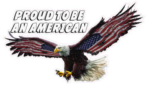"Proud to be an American Large Decal 16/"" x 9/"""
