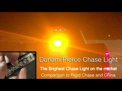 Red Dunarri Pierce Chase Light Designed in-house, Brighter than others