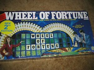 1986 pressman toy corporation tv game show wheel of for Online wheel of fortune template