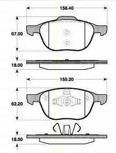 Plaquettes-Frein-AV-TRISCAN-MAZDA-3-BK-1-6-DI-Turbo-109-CH