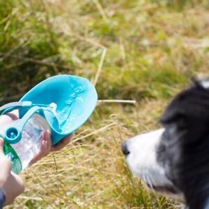 Portable Dog Cat Water Bottle Pet Dispenser Drinking Outdoor Travel Bowl I8A0