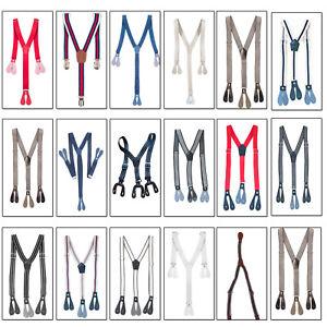 20mm//25mm Kids Braces Elastic Strips Button Hole Y Back Suspenders Trouser