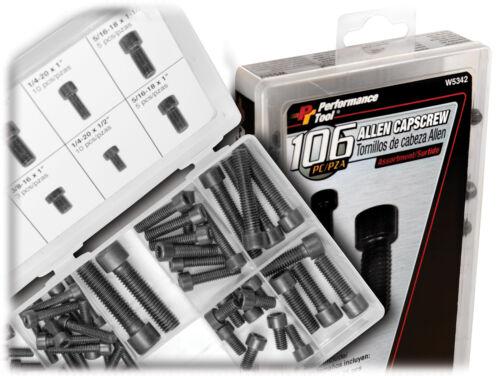 Performance Tool W5342 106pc Allen Cap Screw Assort