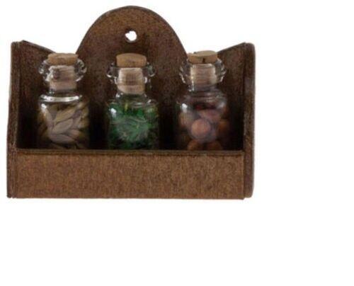 Dollhouse Miniatures 1:12 Scale Wall Spice Rack #IM65233